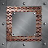 Het frame van het aluminium en geperforeerd metaal met lava Royalty-vrije Stock Fotografie