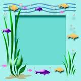 Het frame van het aquarium Stock Foto