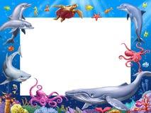 Het frame van het beeldverhaal Stock Fotografie