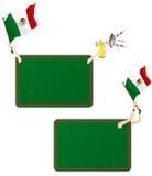 Het Frame van het Bericht van de Sport van Mexico met Vlag. Stock Fotografie