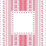 Het frame van het borduurwerk in volksstijl Royalty-vrije Stock Fotografie