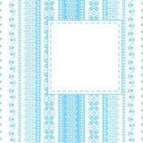 Het frame van het borduurwerk in volksstijl Stock Afbeelding