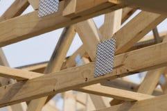 Het Frame van het Dak van het hout Royalty-vrije Stock Afbeeldingen