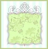 Het frame van het damast Royalty-vrije Stock Afbeeldingen