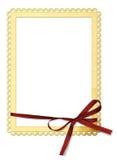 Het frame van het document met een boog Stock Foto