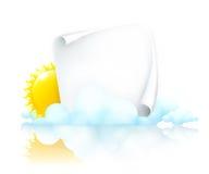 Het frame van het document in wolken stock illustratie