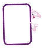 Het frame van het etiket konijn Stock Fotografie