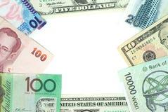 Het frame van het geld Stock Fotografie