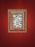 Het frame van het geld Stock Afbeeldingen