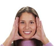 Het frame van het gezicht royalty-vrije stock afbeelding