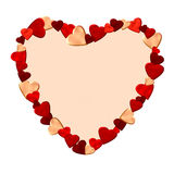 Het frame van het hart dat van harten wordt gemaakt Royalty-vrije Stock Afbeelding