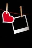 Het frame van het hart en van de foto Stock Foto's