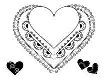 Het frame van het Hart van de Henna van Colouful vector illustratie