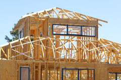 Het frame van het huis Stock Fotografie
