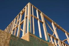 Het Frame van het Huis van de bouw. royalty-vrije stock afbeeldingen