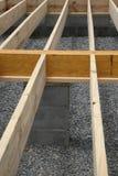 Het frame van het huis - vloerdwarsbalken Royalty-vrije Stock Afbeeldingen