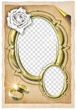 Het frame van het huwelijk Royalty-vrije Stock Afbeelding