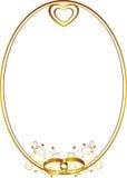 Het frame van het huwelijk met hart Royalty-vrije Stock Afbeeldingen