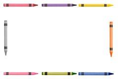 Het frame van het kleurpotlood Royalty-vrije Stock Afbeeldingen