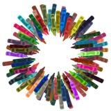 Het Frame van het kleurpotlood stock illustratie