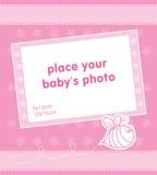 Het frame van het malplaatje ontwerp voor de foto van het babymeisje Royalty-vrije Stock Fotografie