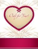 Het frame van het malplaatje ontwerp voor de kaart van de Valentijnskaart Royalty-vrije Stock Foto's