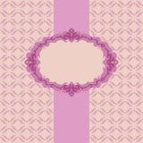 Het frame van het malplaatje ontwerp voor groetkaart. Stock Afbeeldingen