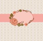 Het frame van het malplaatje ontwerp voor groetkaart. Royalty-vrije Stock Afbeelding