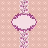 Het frame van het malplaatje ontwerp voor groetkaart. Royalty-vrije Stock Foto
