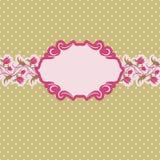 Het frame van het malplaatje ontwerp voor groetkaart. Royalty-vrije Stock Fotografie