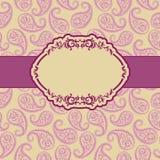 Het frame van het malplaatje ontwerp voor groetkaart. Royalty-vrije Stock Afbeeldingen