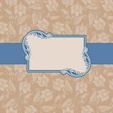 Het frame van het malplaatje ontwerp voor groetkaart. Stock Fotografie