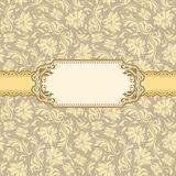 Het frame van het malplaatje ontwerp voor groetkaart. Stock Foto