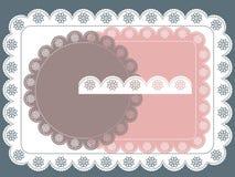 Het frame van het malplaatje ontwerp voor kaart Royalty-vrije Stock Foto
