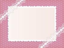 Het frame van het malplaatje ontwerp voor kaart Stock Foto