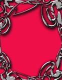 Het Frame van het metaal op Rood Royalty-vrije Stock Afbeelding