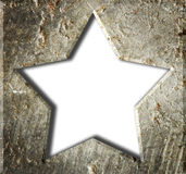 De ster van het metaalkader. Stock Afbeeldingen
