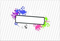 Het frame van het neon grunge voor uw tekst-vector Royalty-vrije Stock Foto's