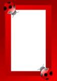 Het frame van het onzelieveheersbeestje Stock Foto's
