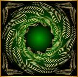 Het frame van het patroon van gouden blad royalty-vrije illustratie
