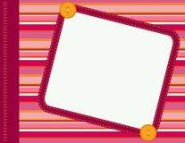 Het frame van het plakboek Stock Foto