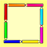 Het frame van het potlood Stock Afbeeldingen