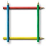 Het frame van het potlood Stock Foto's