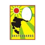Het frame van het skateboard Stock Foto's
