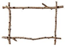 Het frame van het takje stock afbeeldingen