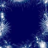 Het frame van het vuurwerk Stock Fotografie