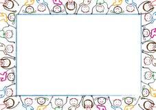 Het frame van jonge geitjes Stock Afbeelding