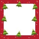 Het frame van kerstbomen stock illustratie