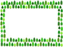 Het frame van kerstbomen Stock Afbeelding