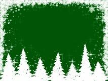 Het frame van kerstbomen en van sneeuwvlokken Royalty-vrije Stock Afbeelding
